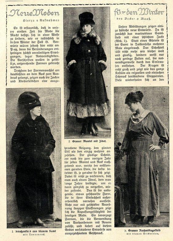Kriegsmode Dez 1917