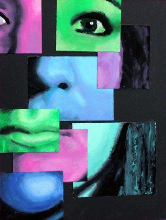Artsonia Art Museum :: Artwork by Kristen1612, self-portrait: