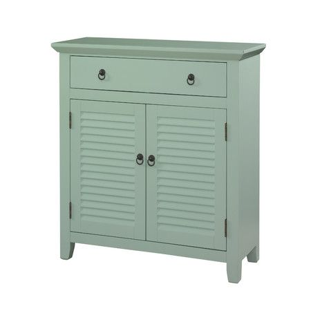 Whether it's nestled into a coastal retreat or a rich, rustic den, this classic cabinet brims with crisp appeal. Let its louvered doors stow spare towels and...