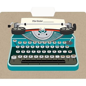 Typewriter File Folders from Paper Source