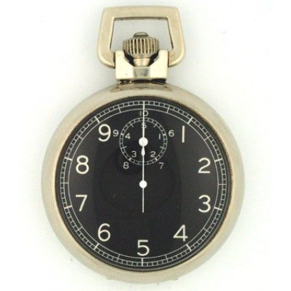 Elgin 1940's Vintage US Military Air Force Bomber Stainless Steel Stop Watch