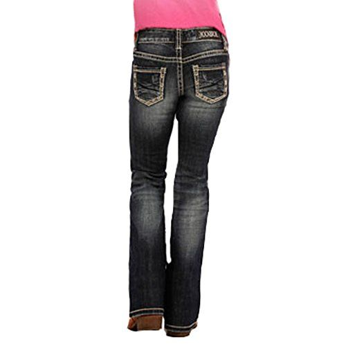 Girls Pull On Cat Face Ears Appliques Embroidery Tears Skinny Jeans Sweety