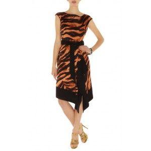 Karen Millen Zebra Tie Dye Print Dress Orange Multi Dn252 Online Floral Dress cute #womenfashion #ramirez701 #FloralDress #Floral #Dress #topdress www.2dayslook.com