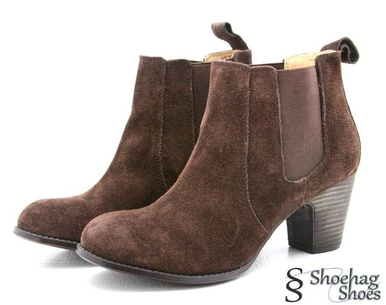 Nine West Womens Fashion Ankle Boots Size 10 M Brown Suede Vintage