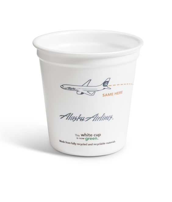 7oz AlaskaAirlines InCyclecup - check out my story for BreakingModern.com: http://www.breakingmodern.com/environment-incycle/