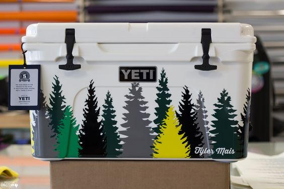 At Chazzzam, we do a lot more than vinyl car wraps.  We've custom wrapped refrigerators, kegs and now coolers!  With all the coolers on the beach, Summer is the perfect time for a unique and distinctive vinyl wrap.  Tailgate in style and stay cool.  This Yeti cooler was graphically designed in-house and printed on 3M vinyl for a vibrant, clean-cut style.  For questions about branding your style, contact Chazzzam's wrap specialists at 360.389.5178!