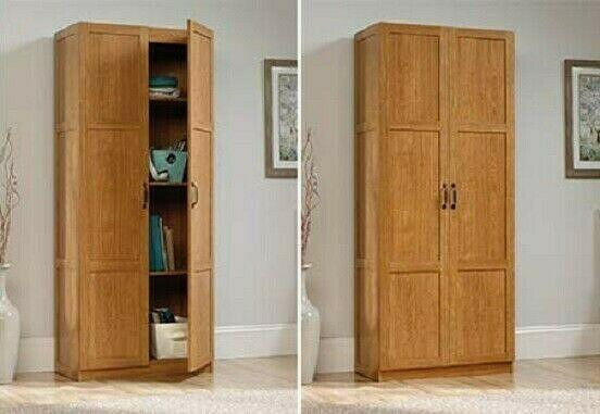 2 Door Storage Cupboard Pantry Cabinet Kitchen Cottage Office Wood Golden Oak Sdrfurniture Cottage Cupboard Storage Pantry Cabinet Door Storage