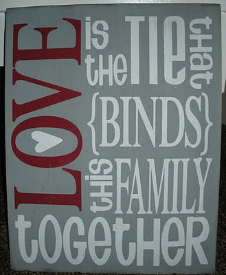 Love is the tie that binds