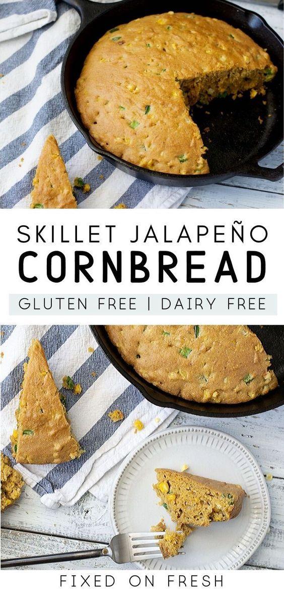 Gluten Free And Dairy Free Skillet Jalapeno Cornbread Recipe In 2020 Jalepeno Recipes Cornbread Corn Bread Recipe