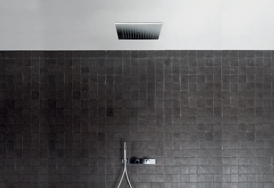 Ceiling-mounted shower head / rectangular / rain / fixed ACQUADOLCE: L001B+L001A by Franco Sargiani FANTINI