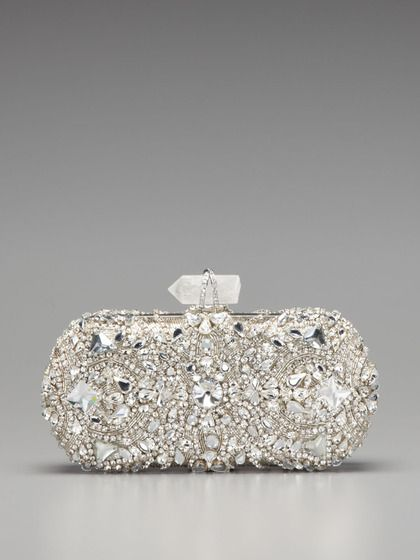 Lily Embroidered Clutch by Marchesa Handbags on Gilt