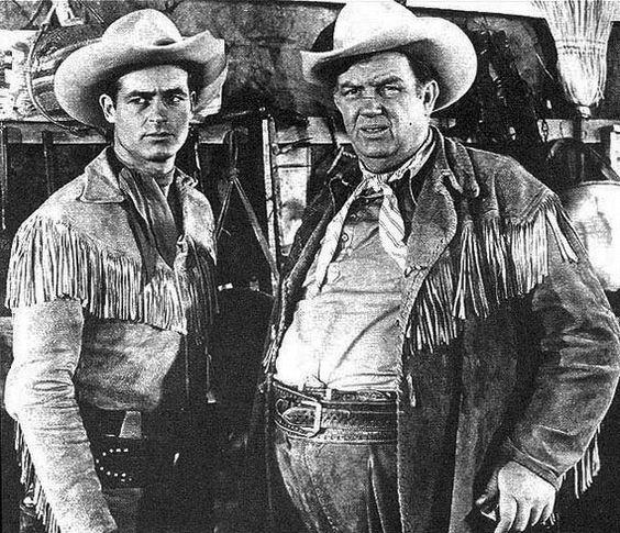 "WILD BILL HICKOCK  As Wild Bill, Guy Madison wore a fanciful, fringed buckskin shirt, a reverse draw brace of six-guns, rode an Appaloosa (Buckshot) and had  Andy Devine (1905-1977) as his gravel-voiced sidekick Jingles P. Jones (""Hey Wild Bill—Wait for me!"")"