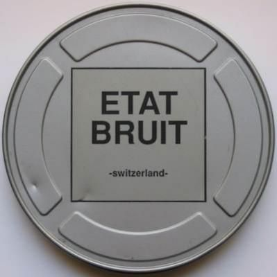 Various Artist / Etat Bruit -Switzerland- (5x7inch/metal box): ノイズ、エクスペリメンタル・レーベル Scrotum Production から1996年にリリースされた、メタル製フィルム缶に入った7インチ5枚組コンピレーション!200個限定ナンバリング入り。デッド・ストック!