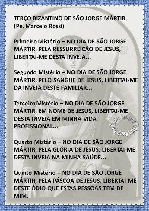 TERÇO BIZANTINO - SÃO JORGE ENVIADO PELO PADRE MARCELO ROSSI: