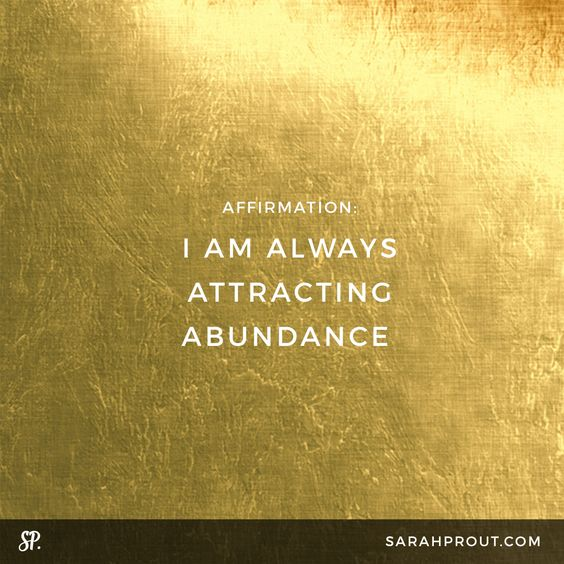 AFFIRMATION: I am ALWAYS attracting abundance.   Say it over and over and over again until you start to rewire your thinking. My guess is that you state how much money you DON'T have right now instead of working with your vibrational super powers and using the Law of Attraction. Remember, to think is to create. So each time you affirm that there's not enough money, or you're lacking something then the Universe will respond. #LoA #manifesting