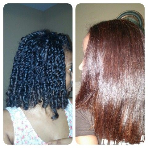 my hair before henna on the left my hair after henna on the righti am loving the color and shine - Henn Color