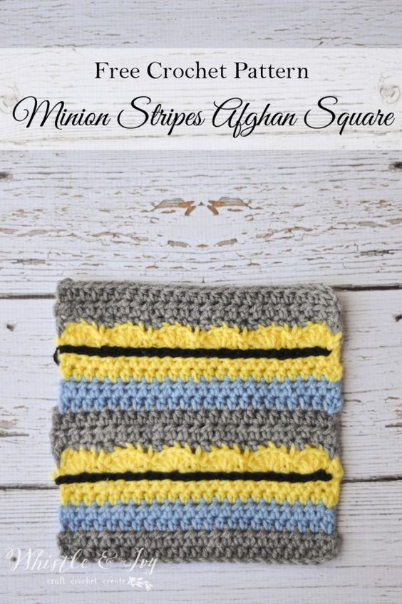 Afghans, Minions and Squares on Pinterest