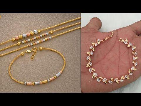Beautiful Light Weight Gold Bracelet Design Images Photos Collection For Girls Fancy Bracel Gold Bracelet For Girl Real Silver Necklace Silver Necklace Set