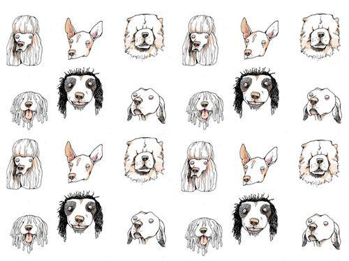 #dog pattern ©Monika Melnychuk