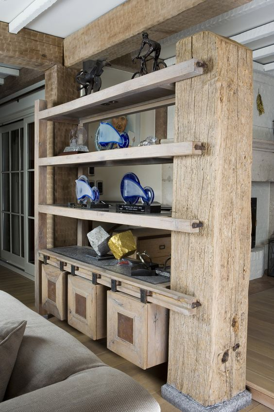 Home interiors wood shelves