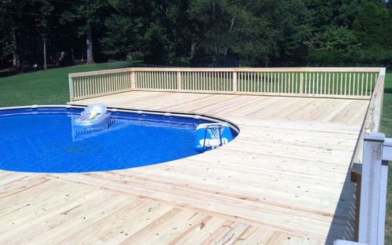 Above Ground Pool Deck Building Swimming Pool Ideas Pinterest The O 39 Jays Building A Deck