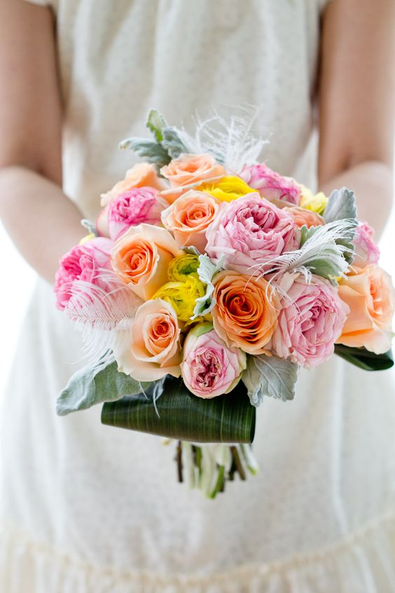 Rose Wedding Bouquet by Green With Envy