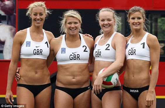 Stopping traffic: Britain's Denise Johns, Lucy Bolton, Shauna Mullin and Zara Dempne