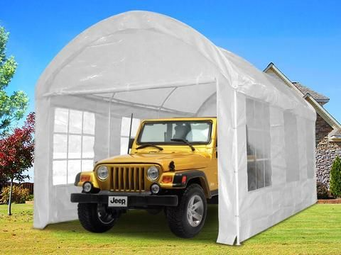 Quictent 20 X10 Heavy Duty Portable Carport White Portable Carport Carport Canopy Tent