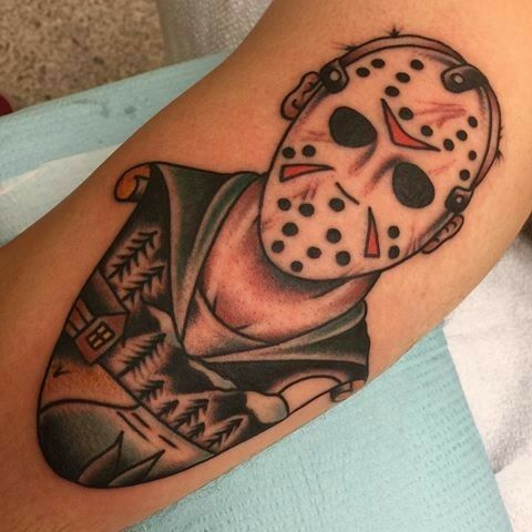Pin By Chris Gammon On American Traditional Tattoos Movie Tattoos Tattoos Friday The 13th Tattoo