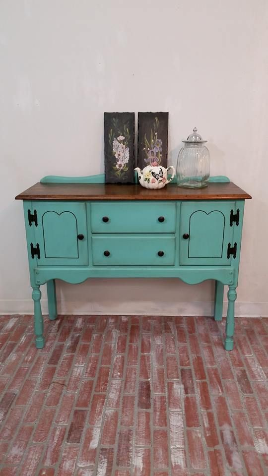 The Gulf Chalk Paint Teal Blue Shabby Chic Furniture Painting Shabby Chic Dresser Chic Furniture