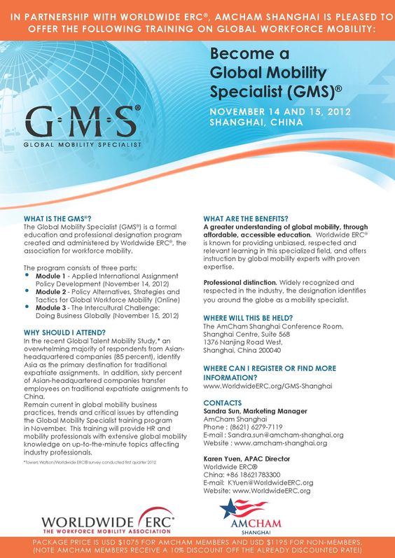 13 best Global Mobility Specialist (GMS)® images on Pinterest - global mobility specialist sample resume