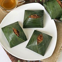 ... glutinous rice banana leaves rice brown sugar coconut leaves bananas