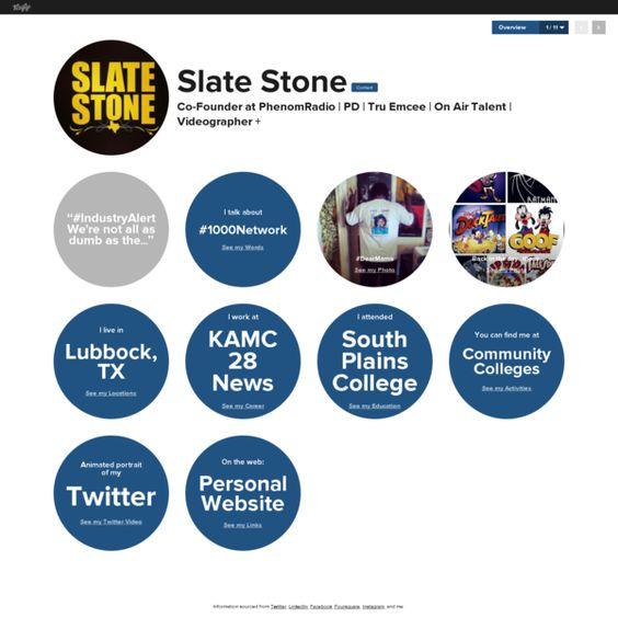 Graphical bio: Slate Stone