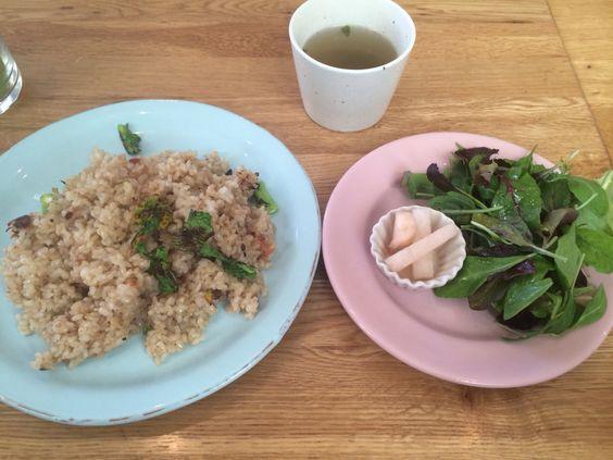 dritte   玄米の梅肉ガーリックサラダ