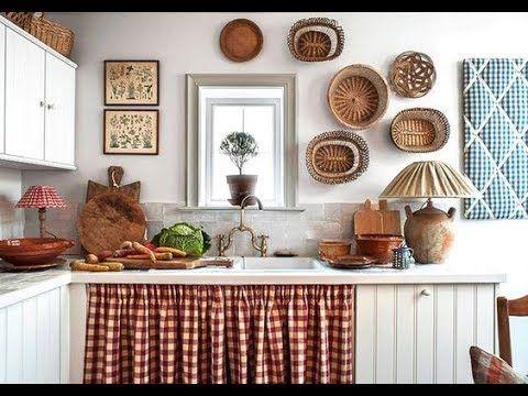 Disenos Rusticos 1 Para Ver U Disfrutar Ideas De Cortinas De Cocina Cocinas De Estilo Rustico Cocinas Casa De Campo