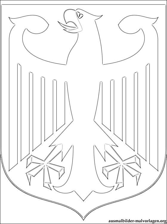 Ausmalbilder Wappen Von Deutschland Zum Ausdrucken Ausmalbilder Kostenlos Und Gratis Malvorlagen Wappen Vorlage Ausmalbilder Deutschland Flagge