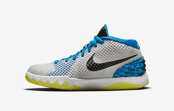NIKE KYRIE 1 GS COLOR: WHITE/BLACK-LIGHT VOLTAGE YELLOW-PHOTO BLUE RELEASE DATE: 08/01/15 PRICE: $100 @LaceMeUpNews