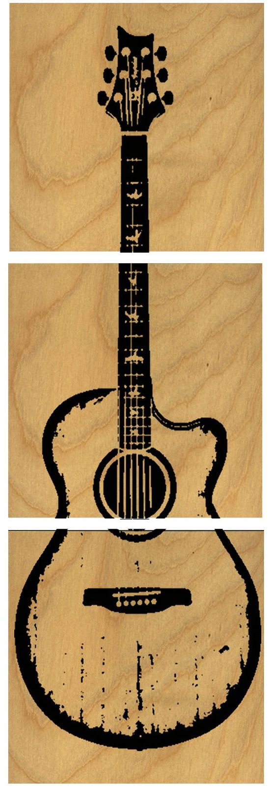 Wood Guitar Wall Decor : Acoustic guitars custom and wood wall