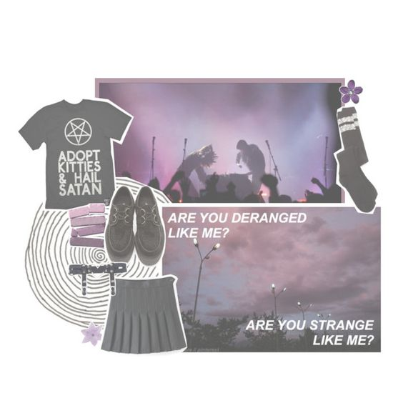"""""""i'll be yours until the stars fall from the sky ✩"""" by ehrica ❤ liked on Polyvore featuring Underground and Charlotte Russe"""
