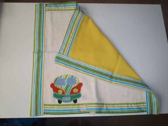 Pañalito para bebe ( 40x40 cm) / patchwork y manualidades - Artesanio