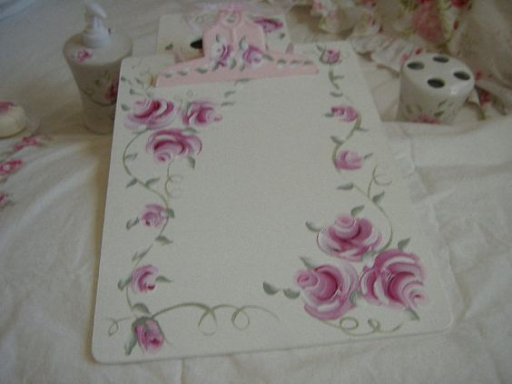 hand painted clip board
