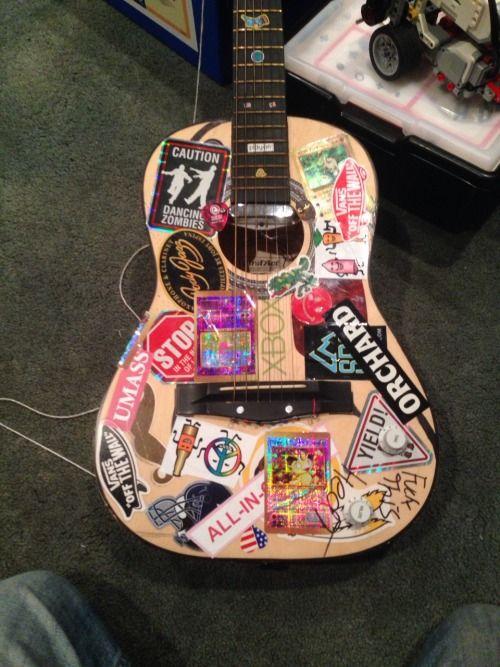 Twiggymac Guitar Design Guitar Painting Music Stickers