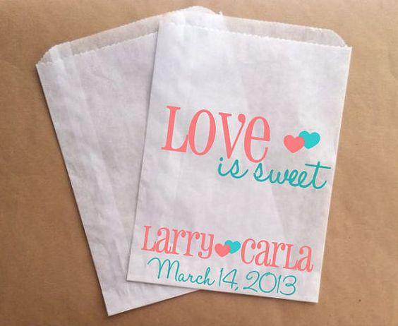 Wedding Favor Bags Coral : ... wedding moore wedding wedding candy coral wedding 2015 wedding wedding