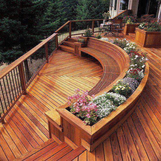 Beautiful Wooden Deck