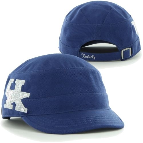 '47 Brand Kentucky Wildcats Ladies Sparkle Military Adjustable Hat – Royal Blue