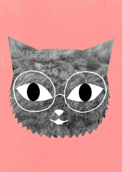 nerdy cat for a nerdy office.
