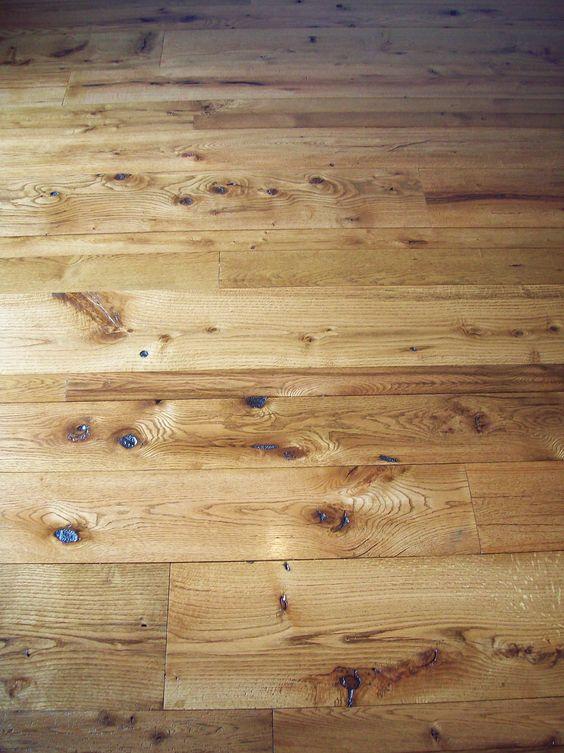 Antique reclaimed oak t g barn wood floor in varying for Wood floor hole filler