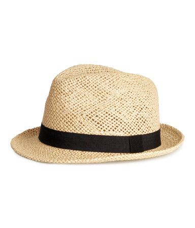 Tan and black straw hat by H&M.  Perfect for UCF Knights Game Day!