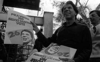 Silvio Santos, candidato à Presidência da República em 1989