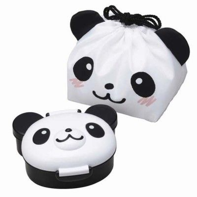 Panda Bento Box – with Lunch Bag http://littlebentoworld.com/shop/bento-lunch-box/panda-bento-box/